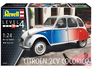 Revell - Citroen 2 CV Cocorico, Mastelis: 1/24, 07653 2