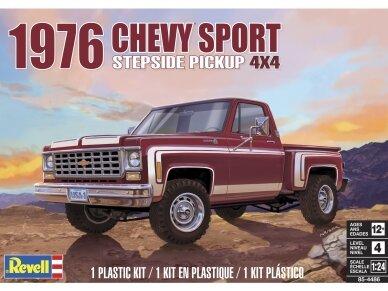 Revell - 1976 Chevy Sport Stepside Pickup 4X4, Mastelis: 1/24, 14486