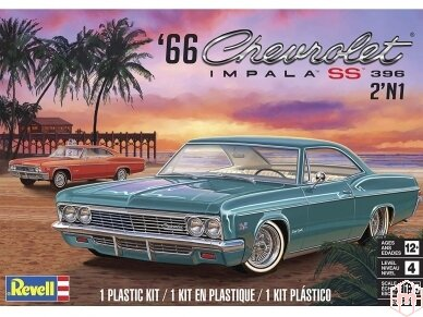 Revell - '66 Chevy® Impala™ SS™ 396 2'N1, Mastelis: 1/25, 14497