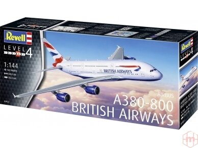 Revell - A380-800 British Airways, Mastelis: 1/144, 03922