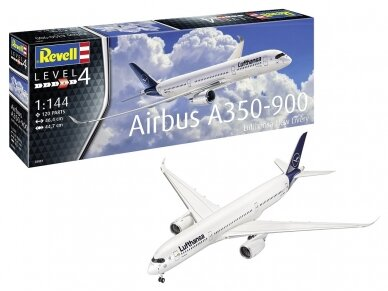 Revell - Airbus A350-900 Lufthansa New Livery, Scale: 1/144, 03881