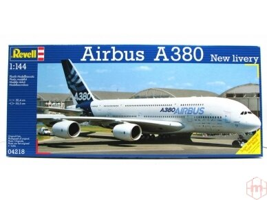 """Revell - Airbus A380 """"New Livery"""", Mastelis: 1/144, 04218"""