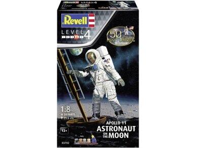 Revell - Apollo 11 Astronaut on the Moon Model Set, Scale: 1/8, 03702