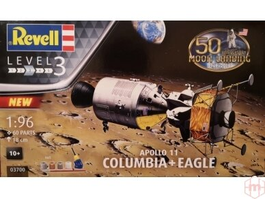 Revell - Apollo 11 Columbia & Eagle dovanų komplektas, Mastelis: 1/96, 03700