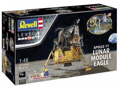Revell - Apollo 11 Lunar Module Eagle dovanų komplektas, Mastelis: 1/48, 03701