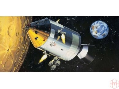 Revell - Apollo 11 Spacecraft w/ Interior dovanų komplektas, Mastelis: 1/32, 03703 2