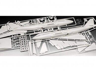 Revell - Boeing 747-100, 50th Anniversary dovanų komplektas, Mastelis: 1/144, 05686 4