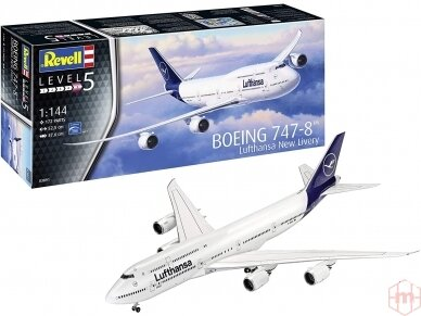 "Revell - Boeing 747-8 Lufthansa ""New Livery"", Mastelis: 1/144, 03891"