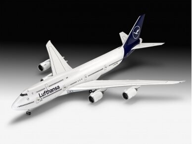 """Revell - Boeing 747-8 Lufthansa """"New Livery"""", Scale: 1/144, 03891 2"""
