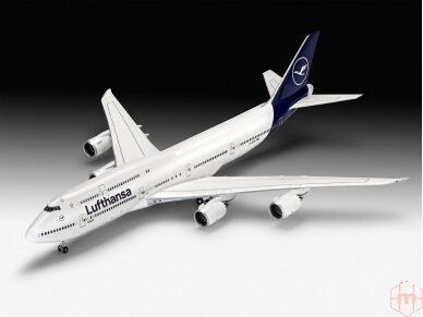 "Revell - Boeing 747-8 Lufthansa ""New Livery"", Mastelis: 1/144, 03891 2"