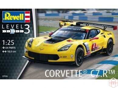 Revell - Corvette C7.R, Mastelis: 1/24, 07036