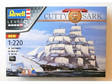 Revell - Cutty Sark 150th Anniversary Model Set, Mastelis: 1/220, 05430