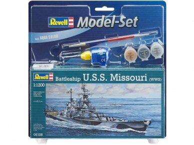 Revell - Battleship U.S.S. Missouri (WWII) Model Set, 1/1200, 65128