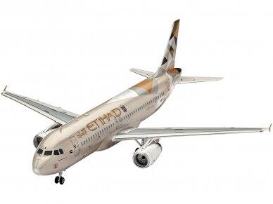 Revell - Airbus A320 ETIHAD AIRWAYS dovanų komplektas, Mastelis: 1/144, 63968 2