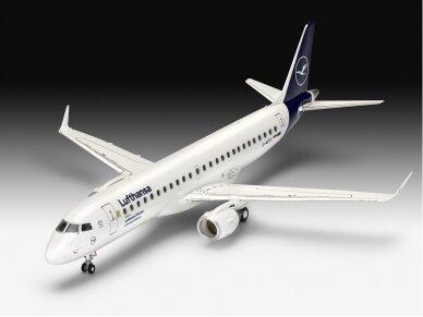 "Revell - Embraer 190 ""Lufthansa"" dovanų komplektas, Mastelis: 1/144, 63883 2"