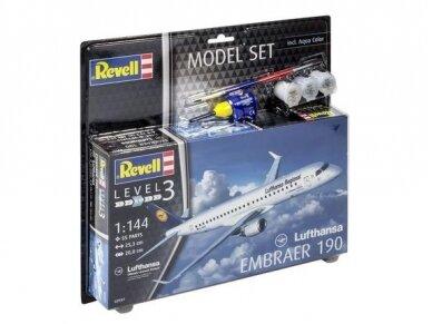 """Revell - Embraer 190 """"Lufthansa"""" Model Set, 1/144, 63937"""