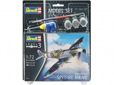 Revell - Spitfire Mk. Vb Dovanų Komplektas, 1/72, 63897