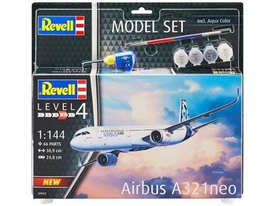 Revell - Airbus A321 Neo Gift set, 1/144, 64952