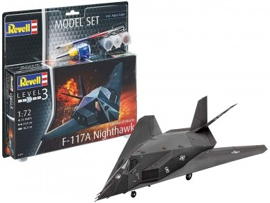 Revell - F-117A Nighthawk Steal Model Set, Scale: 1/72, 63899