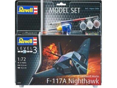 Revell - F-117A Nighthawk Steal dovanų komplektas, Mastelis: 1/72, 63899