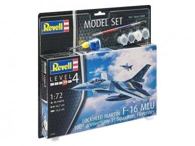 """Revell - F-16 Mlu""""100th Anniversary"""" dovanų komplektas, Mastelis: 1/72, 63905"""