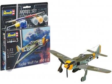 Revell - Focke Wulf Fw190 F-8 dovanų komplektas, Mastelis: 1/72, 63898