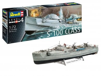 Revell - German Fast Attack Craft S-100, Mastelis: 1/72, 05162