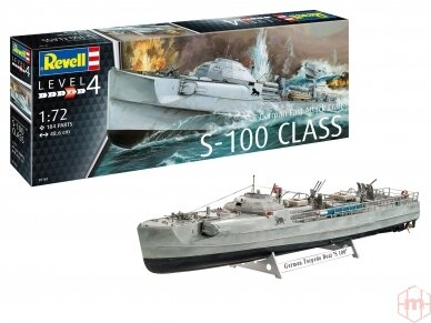 Revell - German Fast Attack Craft S-100, Mastelis: 1/72, 05162