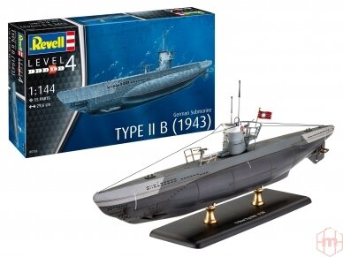 Revell - German Submarine Type IIB (1943), Mastelis: 1/144, 05155 3