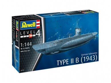 Revell - German Submarine Type IIB (1943), Mastelis: 1/144, 05155