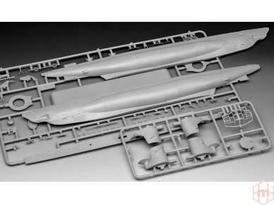Revell - German Submarine Type IIB (1943), Mastelis: 1/144, 05155 4