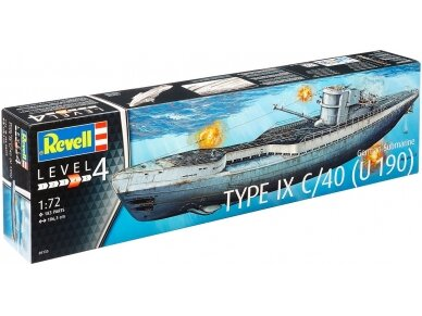 Revell - German Submarine Type IX C/40 (U190), Mastelis: 1/72, 05133