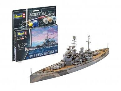 Revell - HMS King George V dovanų komplektas, Mastelis: 1/1200, 65161