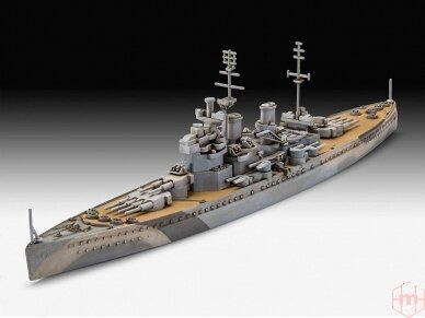 Revell - HMS King George V dovanų komplektas, Mastelis: 1/1200, 65161 2