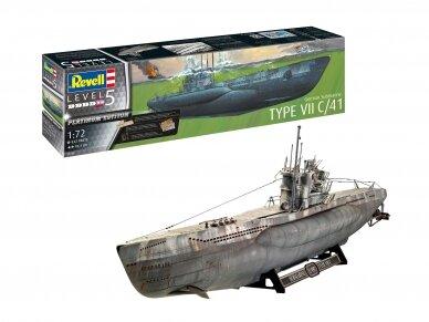 Revell - German Submarine Type VII C/41, Mastelis: 1/72, 05163