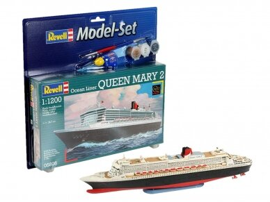 Revell - Queen Mary 2 Model Set, Scale: 1/1200, 65808