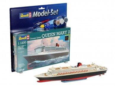 Revell - Queen Mary 2 dovanų komplektas, Mastelis: 1/1200, 65808