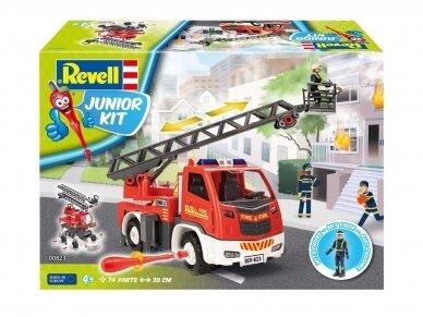 Revell - JUNIOR KIT Gaisrinė mašina su kopėčiomis ir figūrėle, Mastelis: 1/20, 00823 2