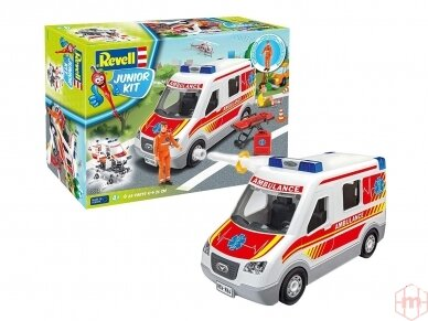 Revell - JUNIOR KIT Greitosios pagalbos mašina, Mastelis: 1/20, 00824