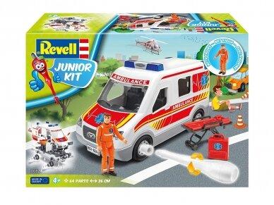 Revell - JUNIOR KIT Greitosios pagalbos mašina, Mastelis: 1/20, 00824 2