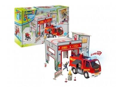 Revell - JUNIOR KIT RC Play Set Fire Station, 1/20, 00852