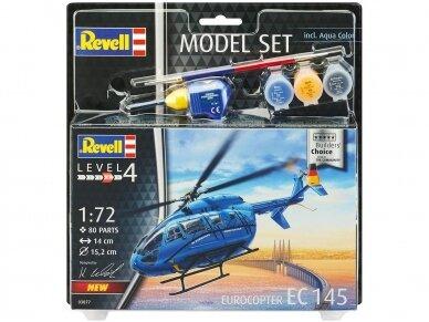 "Revell - Eurocopter EC 145 ""Builder's Choice"" Dovanų Komplektas, Mastelis: 1/72, 63877"