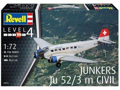 Revell - Junkers Ju52/3m Civil, Scale: 1/72, 04975 2