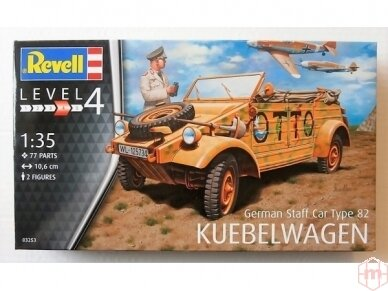 "Revell - German Staff Car Type 82 ""Kübelwagen"", Mastelis: 1/35, 03253"