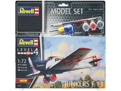 Revell - Junkers F.13 dovanų komplektas, Mastelis: 1/72, 63870