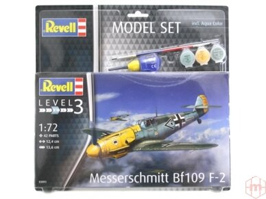 Revell - Messerschmitt Bf109 F-2 Model Set, Scale: 1/72, 63893