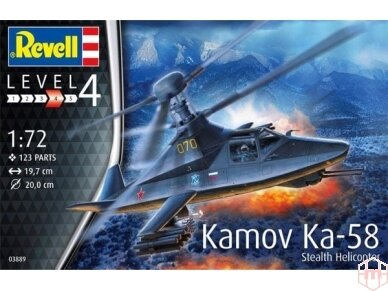 Revell - Kamov Ka-58 Stealth Helicopter, Mastelis: 1/72, 03889