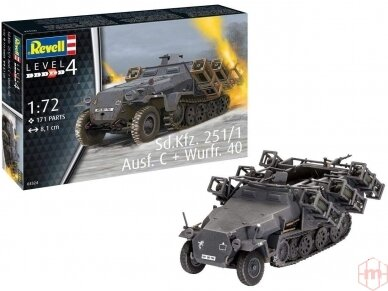 Revell - Sd.Kfz. 251/1 Ausf. C + Wurfr. 4, Mastelis: 1/72, 03324