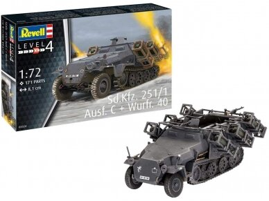 Revell - Sd.Kfz. 251/1 Ausf. C + Wurfr. 4, 1/72, 03324