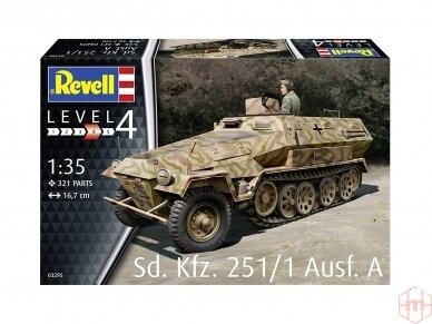 Revell - Sd.Kfz. 251/1 Ausf.A, Mastelis: 1/35, 03295 2